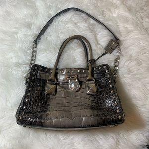 Michael Kors Hamilton studded leather purse